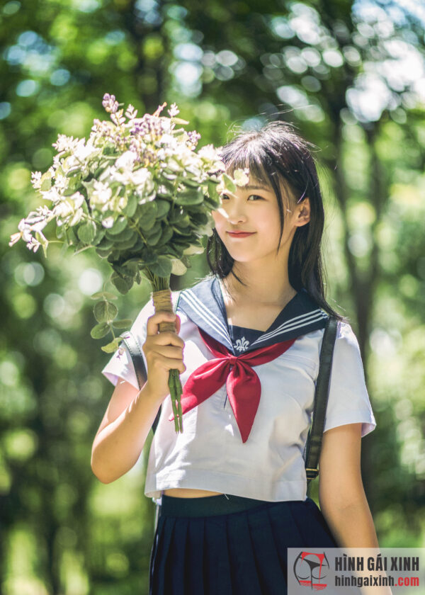 nữ sinh cosplay đồng phục nhật bản