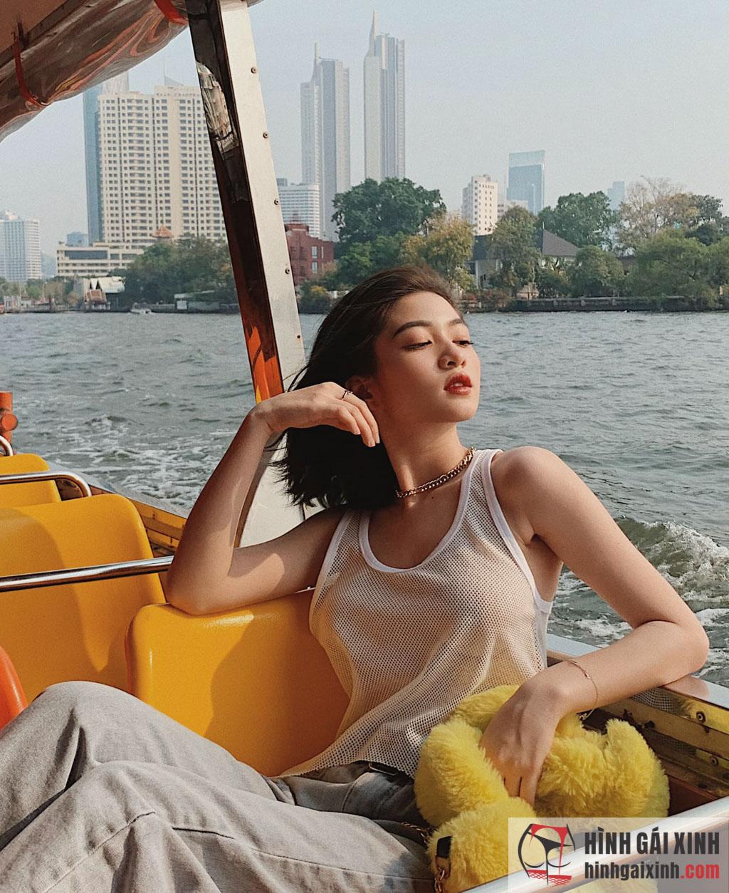 Gái xinh Trần Minh Thiên Di 2k1 sở hữu vòng 1 cực khủng không thua kém bất kỳ hot girl nào