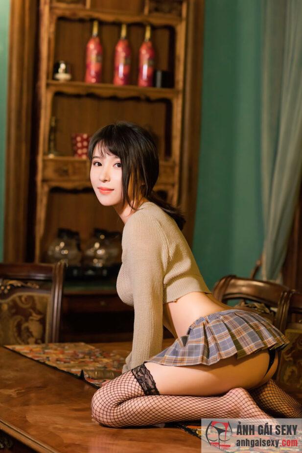 Hình ảnh Girl xinh Trung Quốc Zhao Wan Ling tạo dáng khiêu gợi