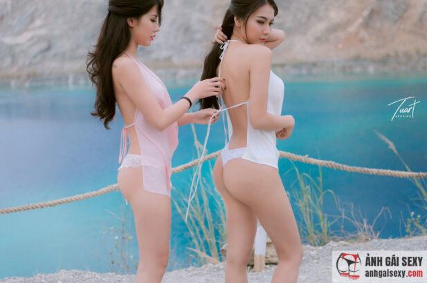 Hình ảnh Bộ album ảnh tuyệt đẹp của 2 cô em sexy ở Tuyệt Tình Cốc