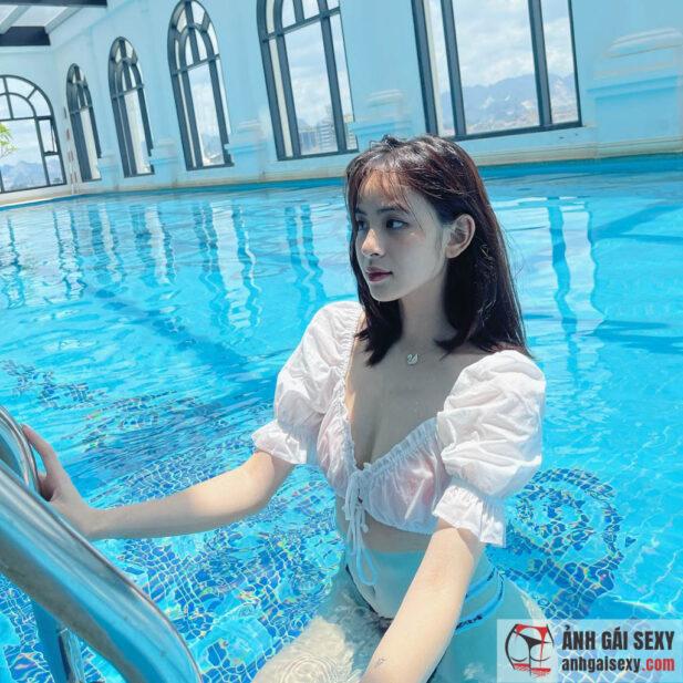 Hình ảnh Nét thơ ngây vừa nhìn đã yêu của hot girl 2k3 Hương Liên
